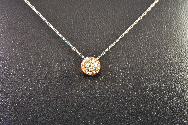 Lady's 14 kt. Rose Gold and Diamond Pendant sku#16000319