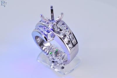 S. Kashi-14 kt. White Gold Diamond Semi Mount Engagement Ring.  1.47 carat total diamond weight.  SI/G.  Sku#100-00632
