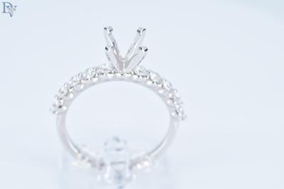 S. Kashi-14 kt. White Gold Diamond Semi Mount Engagement Ring.  .60 carats total diamond weight. SI/G.  Sku#100-00639